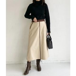 TODAYFUL - 【新品未使用】Neuna エコレザーフレアパイピングスカート