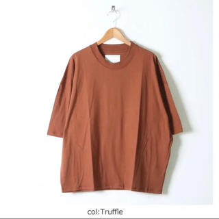 COMOLI - スタジオニコルソン 21ss モックネック Tシャツ トリュフ Mサイズ