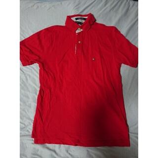 トミーヒルフィガー(TOMMY HILFIGER)の綿100 コットン トミーヒルフィガー 赤 ポロシャツ(ポロシャツ)