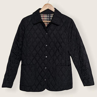 バーバリー(BURBERRY)の美品 バーバリーロンドン ナイロン キルティングジャケット  ブラック(ブルゾン)