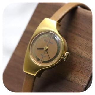クリスチャンディオール(Christian Dior)の【アンティーク 美品】ブローバ×ディオール Wネーム 腕時計 手巻き レディース(腕時計)
