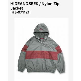 HIDE AND SEEK - HIDEANDSEEK ナイロンジップジャケット グレー