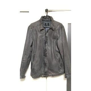 ジョンローレンスサリバン(JOHN LAWRENCE SULLIVAN)のHaruf leather ハルフレザー シングルジャケット ラムレザー(レザージャケット)