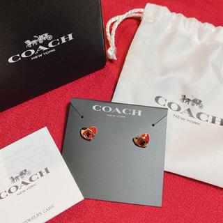 コーチ(COACH)のCOACH シグネチャー ハート スタッド ピアス(ピアス)