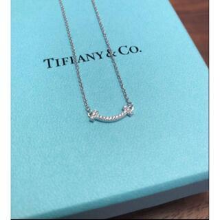 Tiffany & Co. - ティファニー Tスマイルミニ ダイヤネックレス ティースマイル