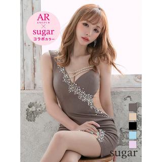 21808*sugar限定カラー*アシンメトリー/パールラインドレスmcS