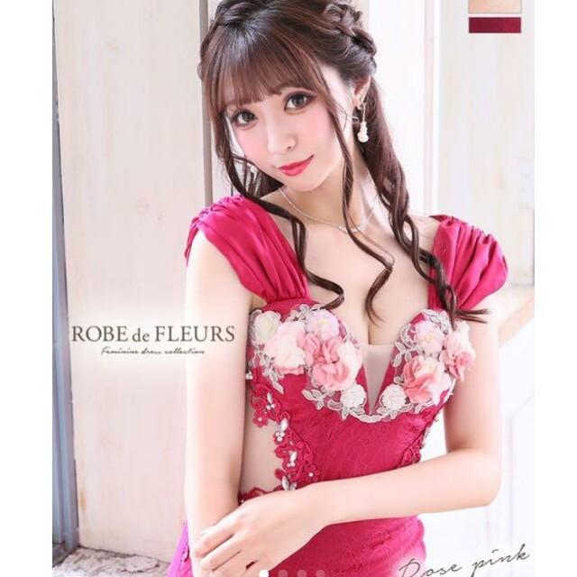ROBE(ローブ)のローブドフルール*フラワーミニドレス レディースのフォーマル/ドレス(ナイトドレス)の商品写真