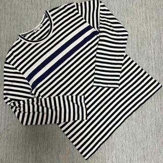 コムデギャルソン(COMME des GARCONS)のCOMME des GARONS  長袖Tシャツ Mサイズ ボーダー柄(Tシャツ/カットソー(七分/長袖))