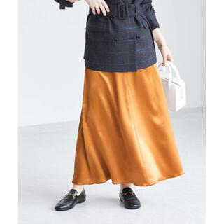 アダムエロぺ(Adam et Rope')の新品未使用 アダムエロペ サテンマーメイドスカート(ロングスカート)