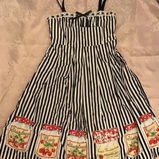エミリーテンプルキュート(Emily Temple cute)のエミリーテンプルキュート ジャム瓶ジャンパースカート(ひざ丈ワンピース)