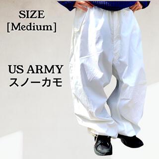 US ARMY アメリカ スノーカモパンツ オーバーパンツ 白 ミリタリ 本田翼