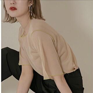 カスタネ(Kastane)のamiur sheer lame knit(Tシャツ(半袖/袖なし))