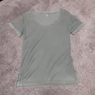 ギャップ(GAP)のGAP 無地Uネック スリットTシャツ(Tシャツ(半袖/袖なし))