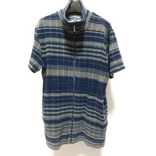 アバハウス(ABAHOUSE)のABAHOUSE パイル生地 半袖ジャケット サイズ3 紺 グレー アバハウス(その他)