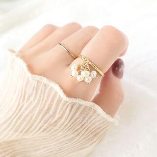 ◆ 淡水パールの花束⁺ ˖˚ ◌【指輪/リング】◆ NO.105