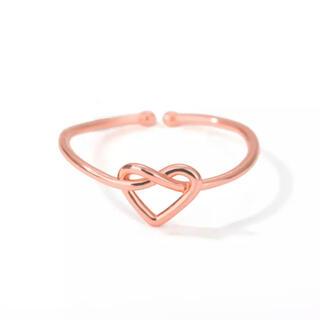 アリシアスタン(ALEXIA STAM)のピンクゴールド ハート オープンリング ファッションステンレスring 指輪(リング(指輪))