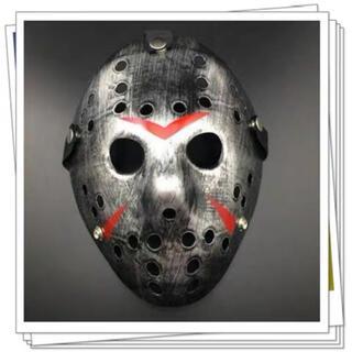 13日の金曜日ジェイソン仮面 ハロウィン仮装マスク シルバー (小道具)