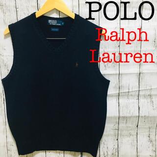 POLO RALPH LAUREN - POLO by Ralph Lauren コットン ニット ベスト ジレ 刺繍