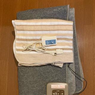 ヤマゼン(山善)の広電電気カーペット1.5畳CWC-153山善電気しき毛布Y13Sシングル通電済み(電気毛布)