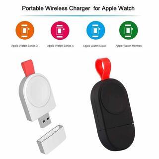 Apple Watch ミニ充電器 アップルウォッチ(ホワイト)。(バッテリー/充電器)