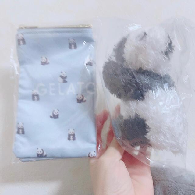 gelato pique(ジェラートピケ)のジェラピケ パンダ ポーチ レディースのファッション小物(ポーチ)の商品写真