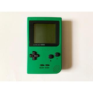 ゲームボーイ(ゲームボーイ)のゲームボーイポケット グリーン 本体 Gameboy Pocket GB GBP(携帯用ゲーム機本体)