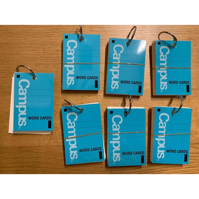 コクヨ(コクヨ)のコクヨ キャンパス 単語カード大 使いかけ含む7冊 インテリア/住まい/日用品の文房具(ノート/メモ帳/ふせん)の商品写真