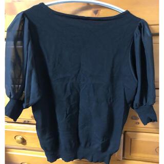 ヴィス(ViS)のカットソー トップス パフスリーブ ブラックTシャツ(Tシャツ(半袖/袖なし))