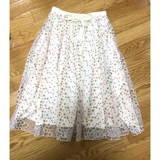 リリーブラウン(Lily Brown)のリリーブラウン 刺繍スカート(ひざ丈スカート)