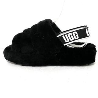 UGG - UGG【即納】アグ オーストラリア ファーサンダル 黒 ブラック 23.0cm