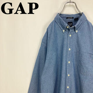 GAP - ギャップ☆オールドギャップ オックスフォード デニム 長袖BDボタンダウンシャツ