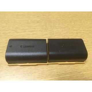 Canon - 2個 CANON  カメラ バッテリー LP-E6 中古 端子カバー付き