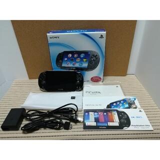 ソニー(SONY)の美品 限定版 PlayStation Vita PCH-1100 +ソフトセット(携帯用ゲーム機本体)