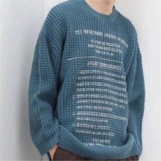 "Jieda - DAIRIKU/""Milspecs"" Printed Knit  《blue》"