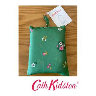 キャスキッドソン(Cath Kidston)のキャスキッドソン 折りたたみエコバッグ グリーン フラワー 新品(エコバッグ)