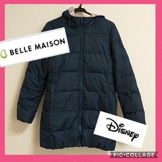 ディズニー(Disney)の【同梱500円引】 美品 ベルメゾン ディズニー ダウンコート Sサイズ 紺(ダウンコート)