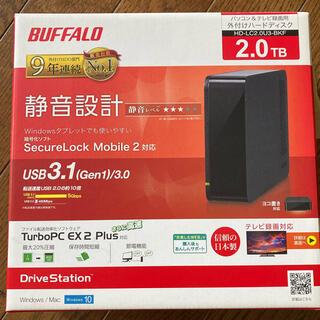 バッファロー(Buffalo)のBUFFALO 外付けHDD (HD-LC2.0U3-BKF) 2TB (その他)