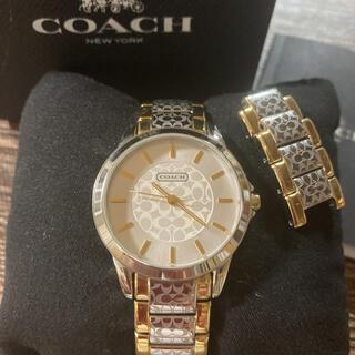 コーチ(COACH)のコーチCOACH腕時計 美品★電池交換済み 動作確認(腕時計)