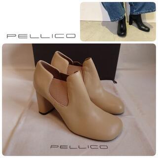 ペリーコ(PELLICO)の定価62700円 新品 ペリーコ 新木型 セミスクエアトゥブーツ 35.5(ブーツ)