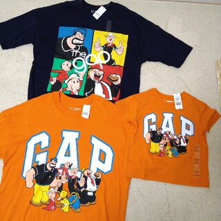 ギャップ(GAP)の新品 GAP 半袖 ポパイ M. 80 親子ペアセット(Tシャツ(半袖/袖なし))