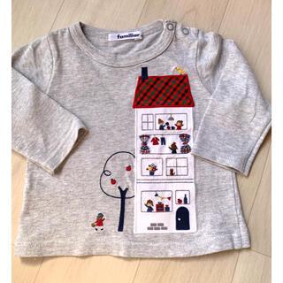 familiar - ファミリア ロングTシャツ トップス チェック 80センチ 美品
