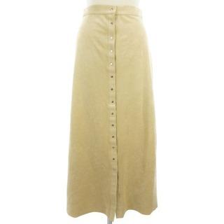 スピックアンドスパンノーブル(Spick and Span Noble)のSpick&Span Noble フェイクスエード スカート ベージュ系 36(ロングスカート)