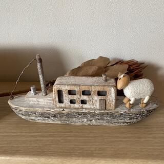 マリメッコ(marimekko)の北欧  インテリア  船  ひつじ(置物)