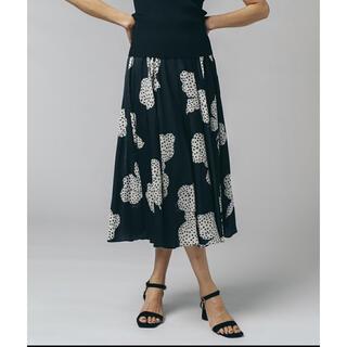 ダブルスタンダードクロージング(DOUBLE STANDARD CLOTHING)のSov./ オリジナルリボン柄プリントサテンスカート(ロングスカート)