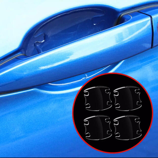 4枚組 ドアハンドルプロテクター 透明 厚みがあり クリアー PVC素材