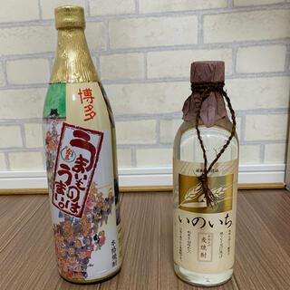 希少焼酎 霧島酒造 うまいものはうまい。900ml・黄金酒造 いのいち500ml(焼酎)