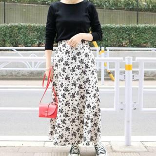 IENA SLOBE - IENA slobe 19ss 花柄マーメイドスカート/カットソーセット