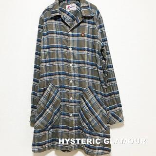 ヒステリックグラマー(HYSTERIC GLAMOUR)の【Hysteric Glamour】FUCK OFF BEAR シャツワンピース(ひざ丈ワンピース)