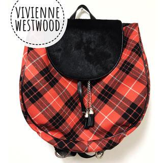 Vivienne Westwood - ヴィヴィアンウエストウッド【美品】《レア》ツイード×ハラコ チェック柄 リュック