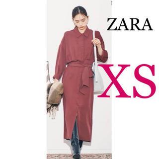 ZARA - ラスト1点 新品未使用 MORE掲載♡ベルト付きシャツワンピース PLST